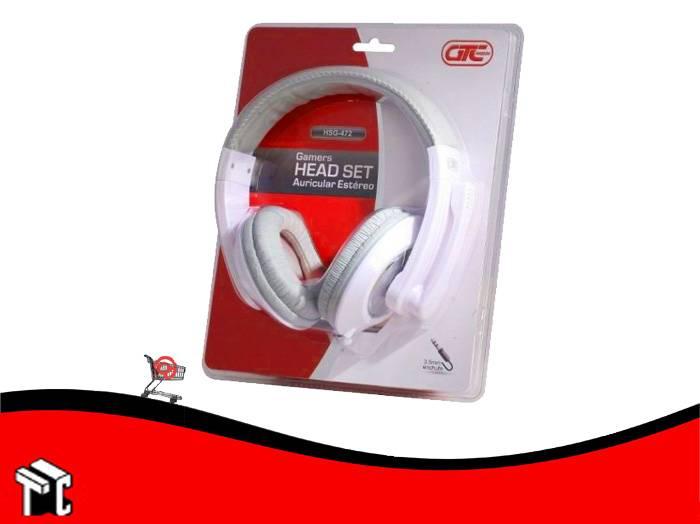 Auricular Con Micrófono Gtc Blanco Hsg-472b