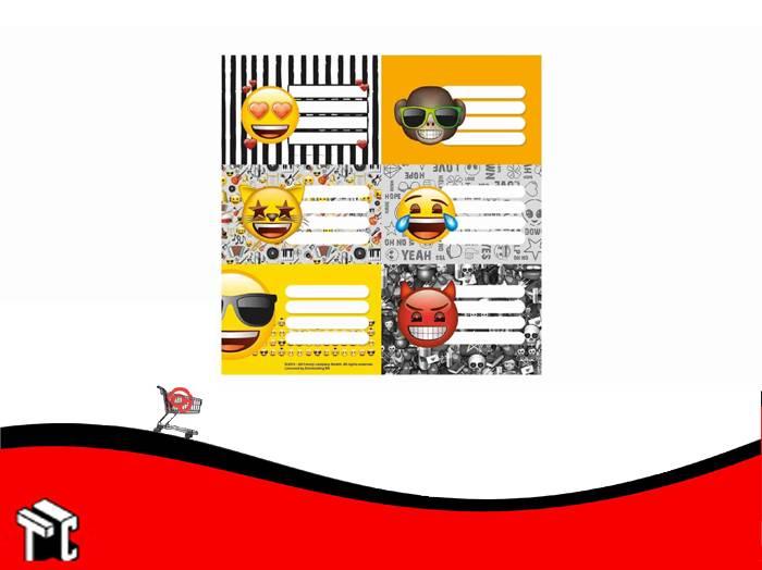 Etiquetas Escolares Emoji X 12 Unidades