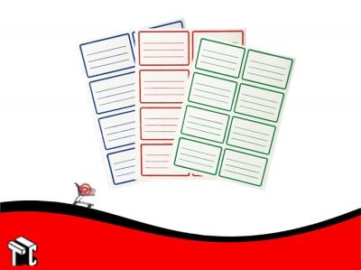 Etiquetas Escolares Azul X 40 Unidades