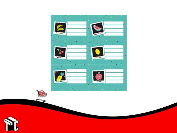 Etiquetas Escolares Colors X 12 Unidades