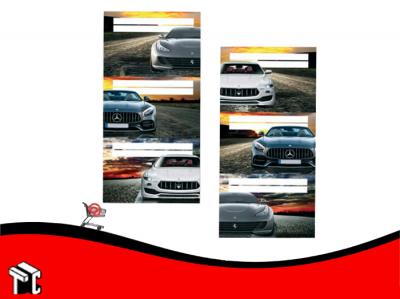 Etiquetas Escolares Autos Sport X12