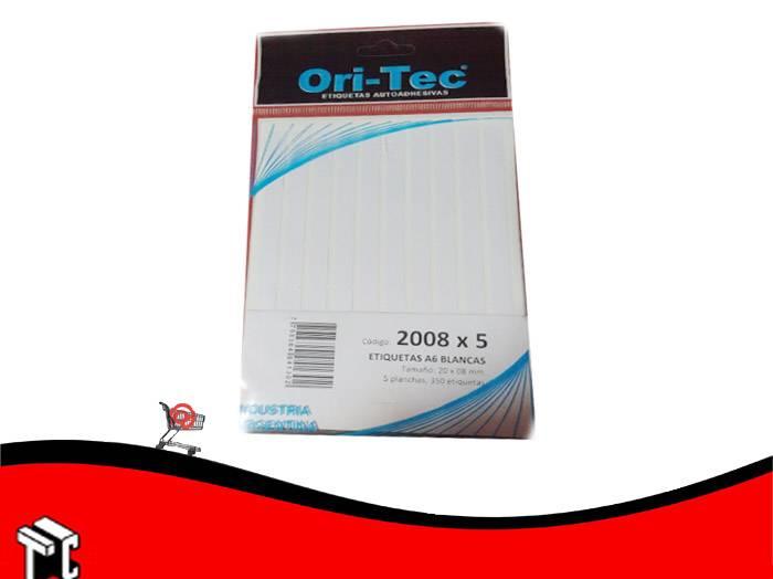Etiqueta Ori-tec 20 X 08mm X350 Etiquetas