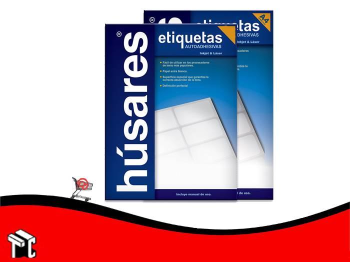 Etiqueta A4 Húsares H34124 6,40x3,39 Cm X 100 Ud
