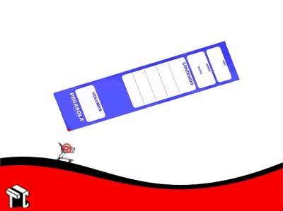 Etiqueta Pegasola Para Lomo Bibliorato Color Azul × 20 Unidades