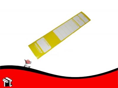 Etiqueta Pegasola Para Lomo Bibliorato Color Amarillo × 20 Unidades
