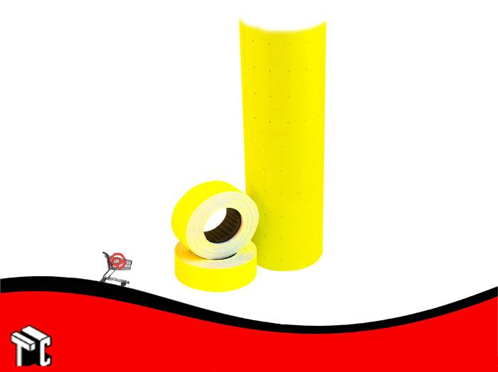 Etiqueta Autoadhesiva De Precios Color Fluo Amarillo X Unidad