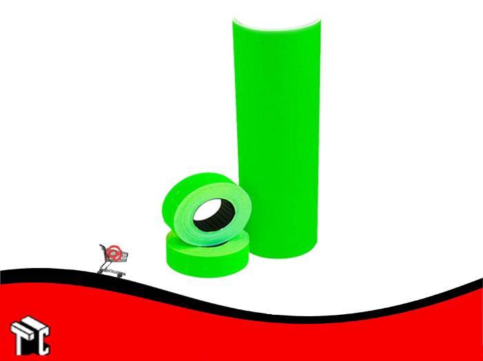 Etiqueta Autoadhesiva De Precios Color Fluo Verde X Unidad