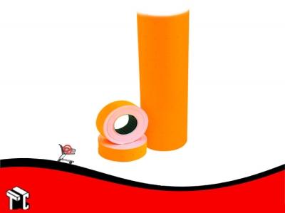 Etiqueta Autoadhesiva De Precios Color Fluo Naranja X Unidad