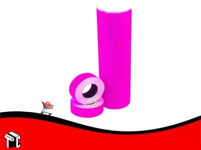 Etiqueta Autoadhesiva De Precios Color Fucsia X 10 Rollos