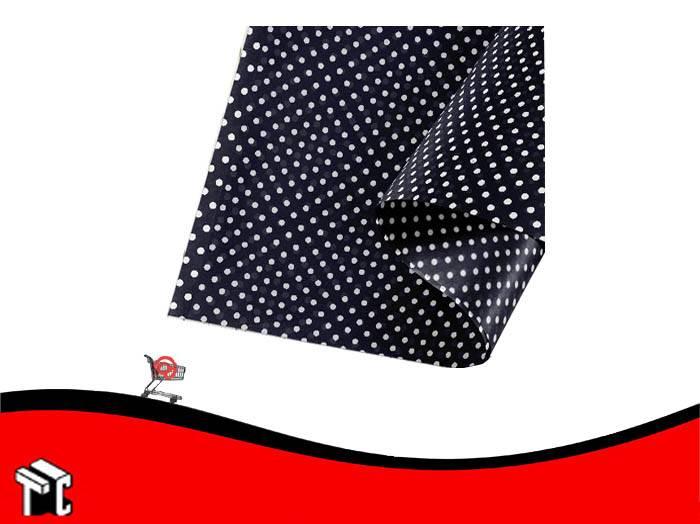 Papel Barrilete 50 X 70 Color Lunares Negro X 5 Unidades