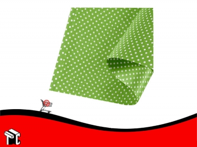 Papel Barrilete 50 X 70 Color Lunares Verde Manzana X 5 Unidades
