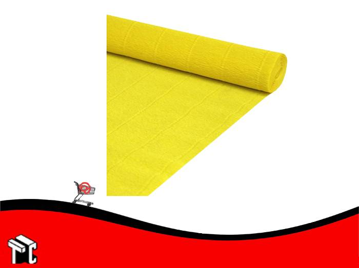 Papel Crepe Color Amarillo Mil28