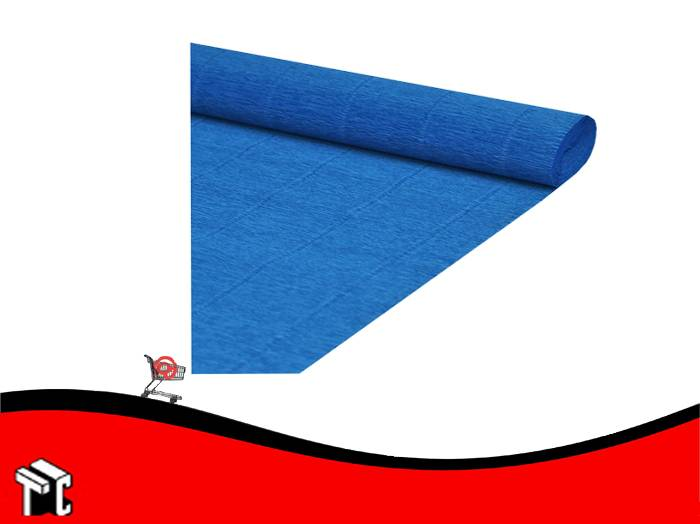 Papel Crepe Azul Mil28
