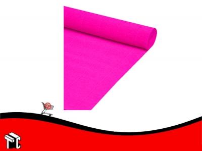 Papel Crepe Fluo Rosa Mil28