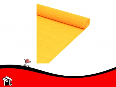 Papel Crepe Fluo Naranja Mil28