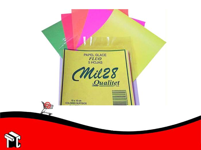 Papel Glace Fluo 10 X 10 X 5 Unidades