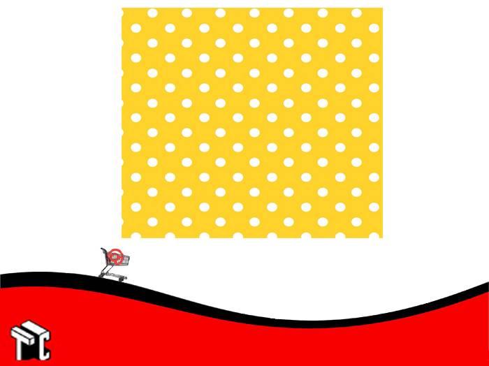 Papel Plastificado Muresco Lunares Amarillo