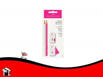Lapiz Faber Castell Set Sparkle Rosa Y Blanco