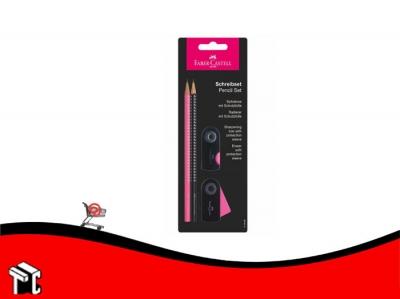Lapiz Faber Castell Set Sparkle Rosa Y Negro