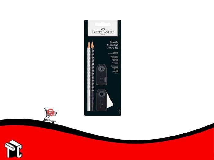 Lapiz Faber Sparkle Set Plata Y Negro
