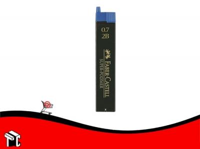 Mina Para Lápiz Faber Castell 0,7 Mm 2b X 12