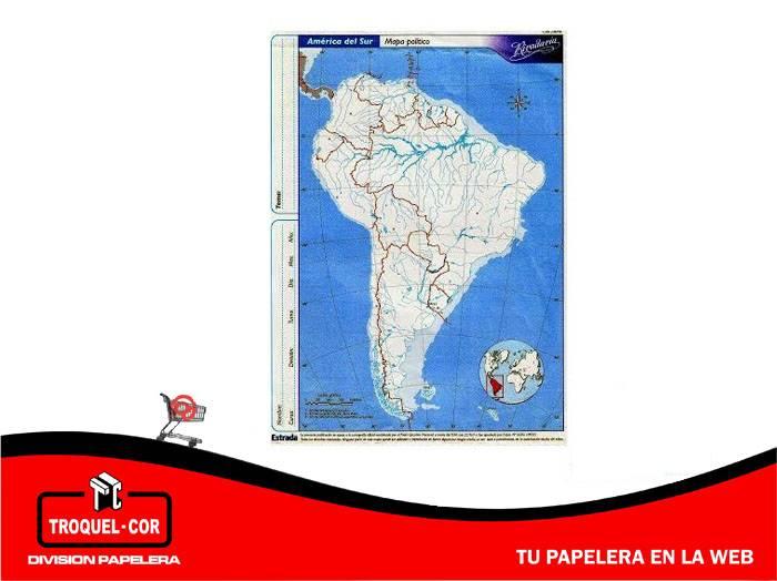 Mapa Político Nº5 América Del Sur