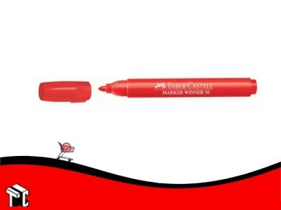 Marcador Al Agua Faber-castell 56 Rojo
