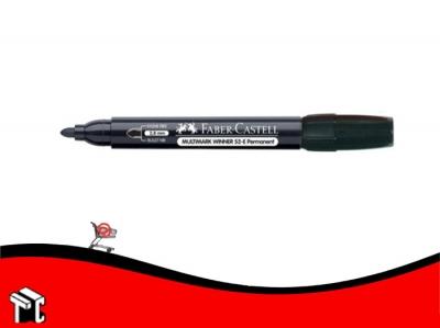 Marcador Permanente Faber Castell 52 Punta Mediana Redondeada Negro