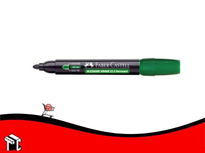Marcador Permanente Faber Castell 52 Punta Mediana Redondeada Verde
