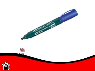 Marcador Permanente Faber Castell 54 Punta Biselada Azul