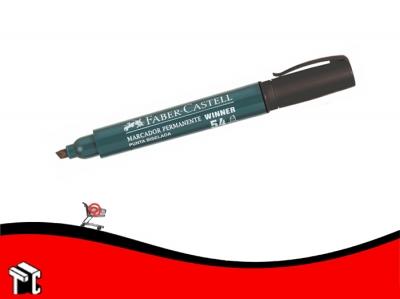 Marcador Permanente Faber Castell 54 Punta Biselada Negro
