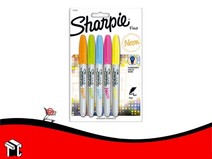 Marcador Permanente Sharpie Neon X 5 Unidades