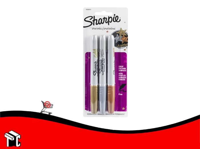 Marcador Permanente Sharpie Metalico X 3 Unidades