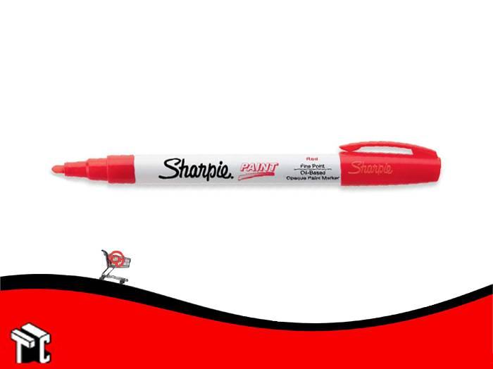 Marcador Permanente Sharpie Paint Rojo