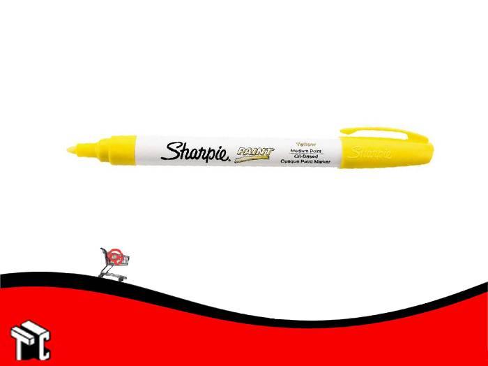 Marcador Permanente Sharpie Paint Amarillo