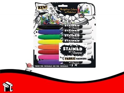 Marcador Permanente Sharpie Textil X 8 Unidades