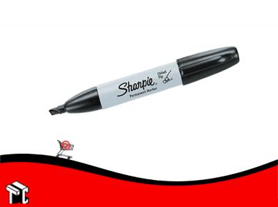 Marcador Permanente Chisel Tip Sharpie Negro