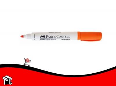 Marcador Para Pizarra Blanca Faber Castell Winner 152 Naranja