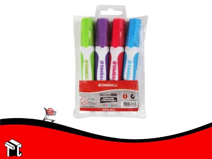 Marcador Para Pizarra Simball X 4 Colores Pasteles