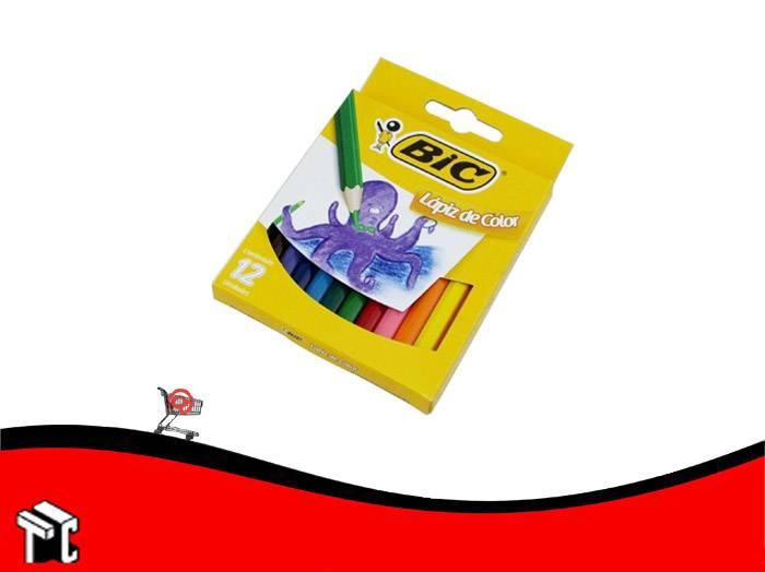 Lapiz De Color Bic X 12 Unidades Cortos