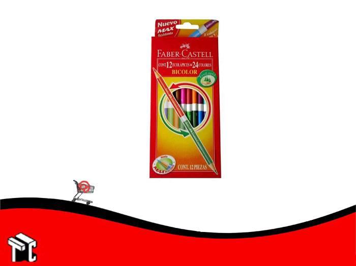 Lapiz De Color Faber Castell Bicolor X 12 Unidades Largos