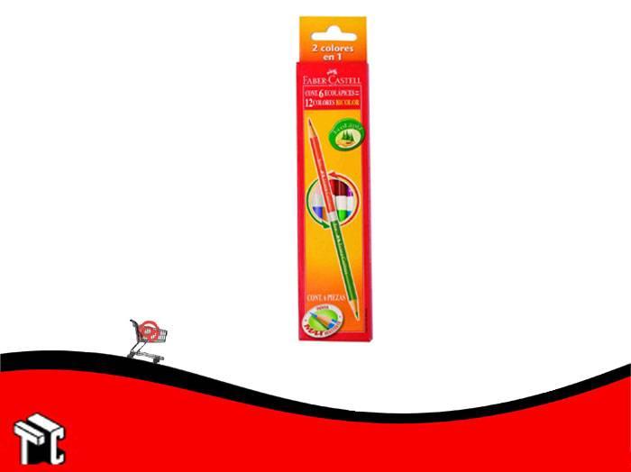 Lapiz De Color Faber Castell Bicolor X 6 Unidades Largos
