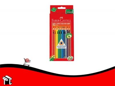 Lapiz De Color Faber Castell Grip X 12 Unidades Largos