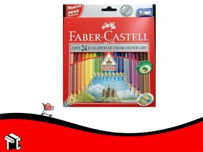 Lapiz De Color Faber Castell Grip X 24 Unidades Largos