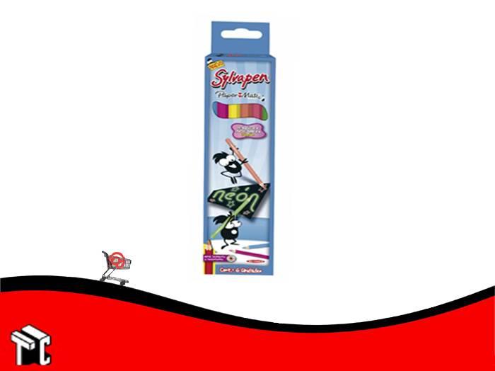Lapiz De Color Sylvapen X 6 Unidades Neon