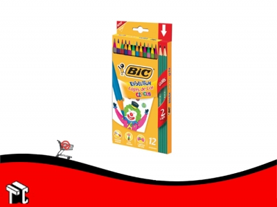 Lapiz De Color Bic Circus X 12 Unidades Largos + 2