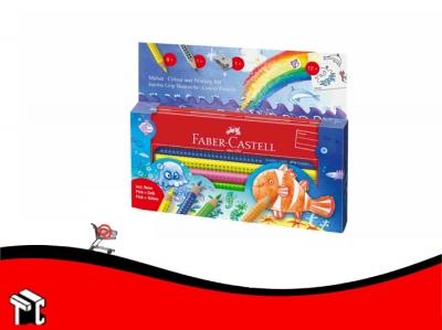 Lapiz De Color Faber Castell Grip Jumbo Mundo Submarino