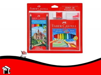 Kit Escolar Faber Castell 28 Piezas