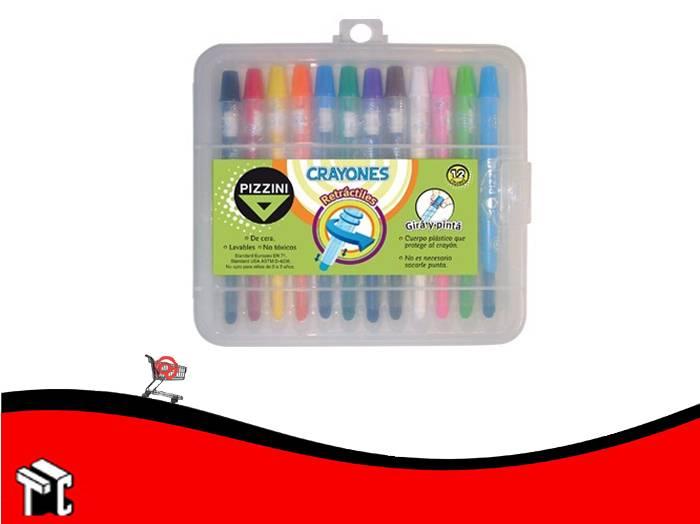 Crayón Retráctil Pizzini X 12