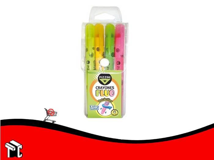Crayón Fluo Pizzini  X 4